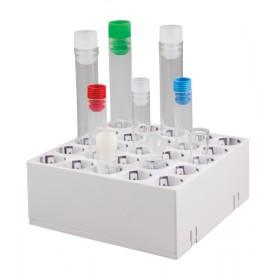 Statyw Multistand na probówki o średnicy 10-17 mm,  5 x 5 miejsc, biały