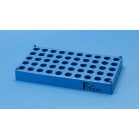 50-pozycyjny statyw na probówki i fiolki o śr. 12 mm, niebieski
